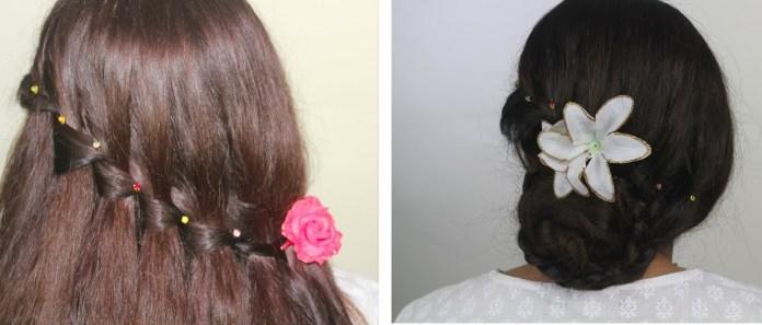 hairstyle for dandiya