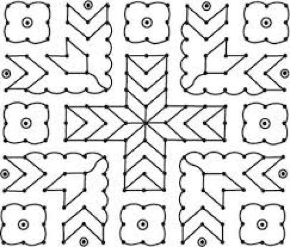 kolam designs with dots