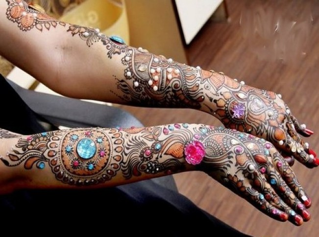 latest karva chauth mehndi design