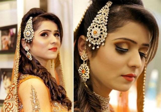 pakistani bridal hairstyle