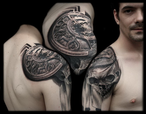 Cool Shoulder Tattoo Design For Men
