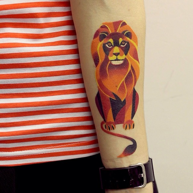 Lion Tattoo Designs On Hand For Men