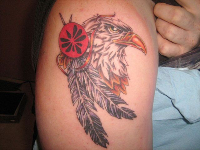 Feather Arm Tattoo Designs For Men