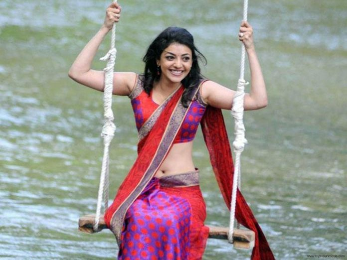 kajal agrawal hot sari wallpapers