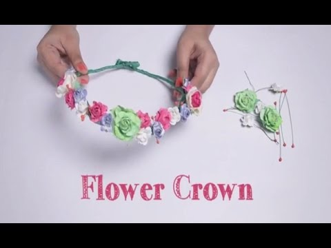 beautiful flower crown hand made design