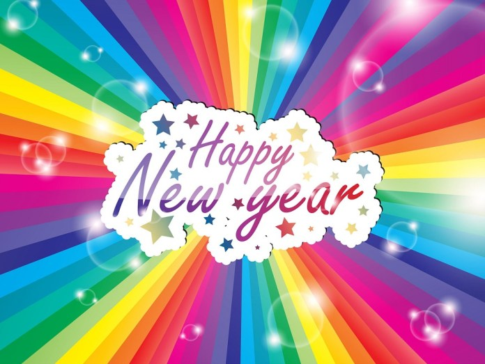 colorful pictures of new year