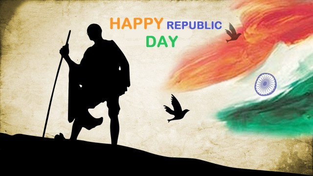 republic day mahatma gandhi images