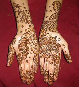 simple dulha mehndi designs