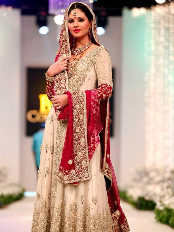 most beautiful pakistani bridal lahnga designs