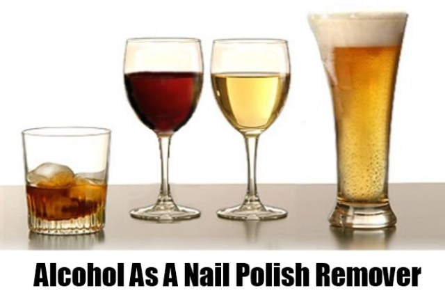 Alcohol Works As Nail Polish Remover