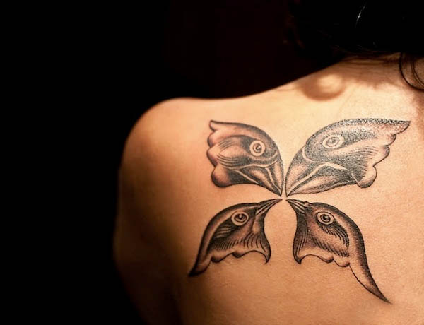 shoulder butterfly tattoos