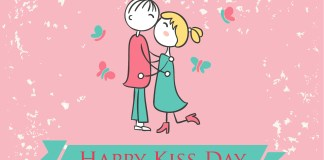 happy kiss day cartoon images
