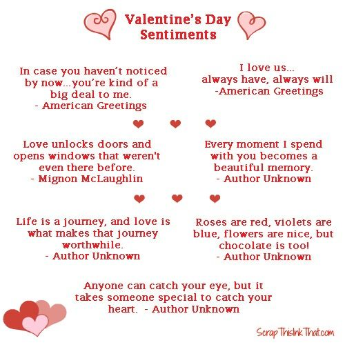 valentines day saying for gf
