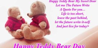 happy teddy bear day sms