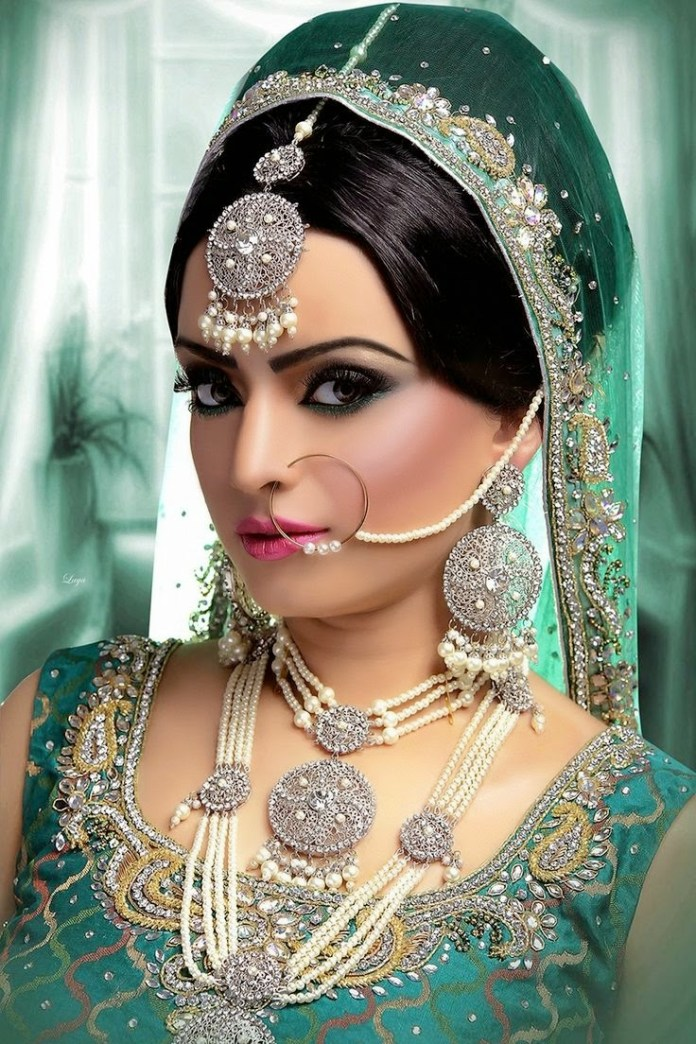 indian bridal traditional nose pin design
