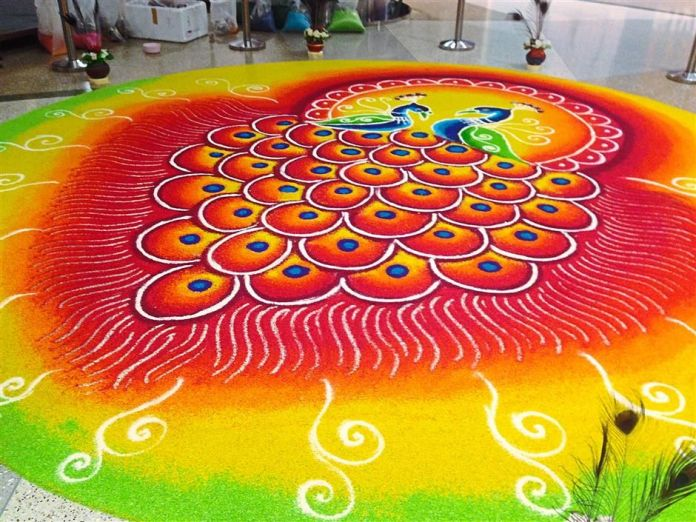 peacock-rangoli-design