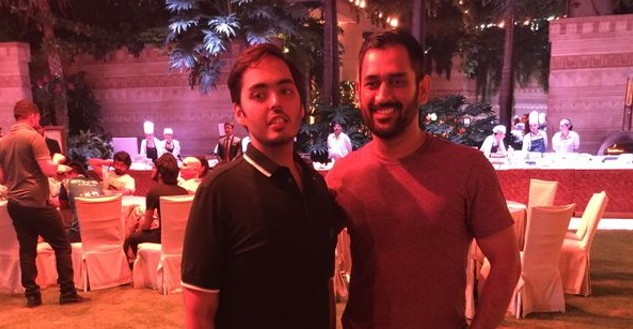 anant with ms dhoni