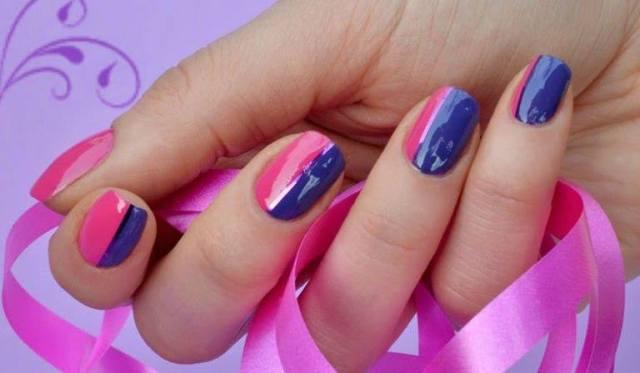 double tone nail art