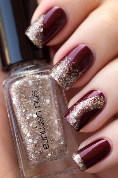 festive look nail art