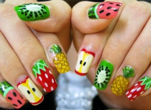 fruit theme nail art
