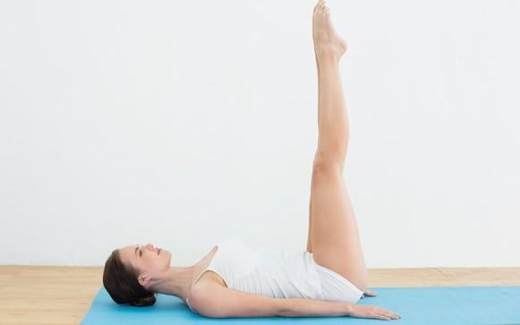 raised feet pose