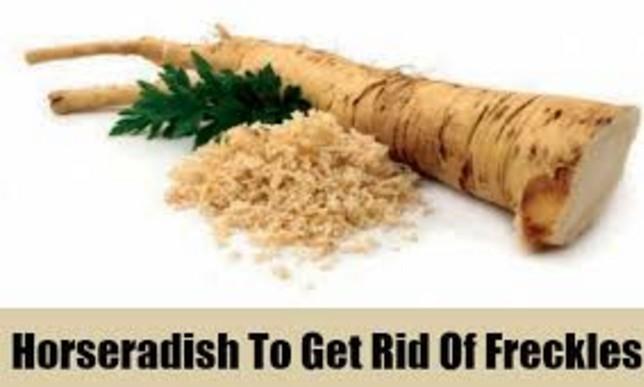 horseradishto get rid of freckles