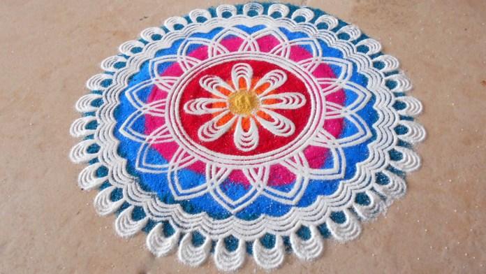 free hand rangoli design