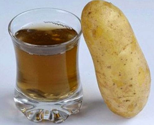 how to make potato juice for face