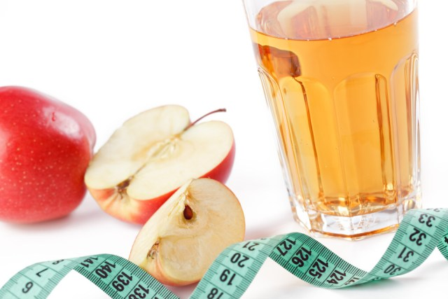 photo shot of apple juice