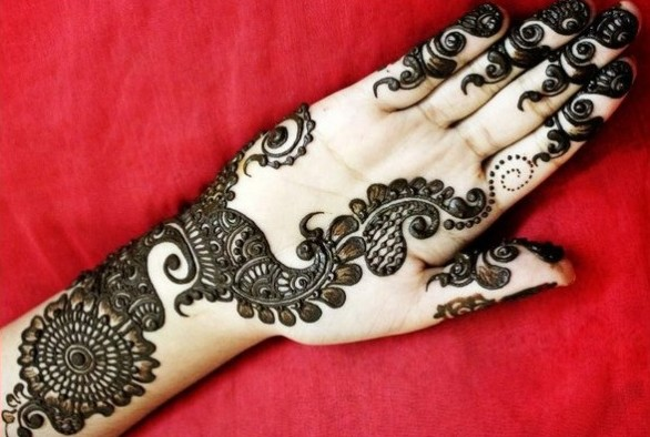 Mehndi Designs Hands Arabic Latest : Top latest arabic mehendi design pictures for hands