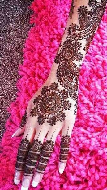 beautiful heena designs for hands