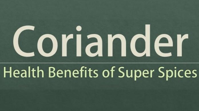 benefits of coriander seeds on health