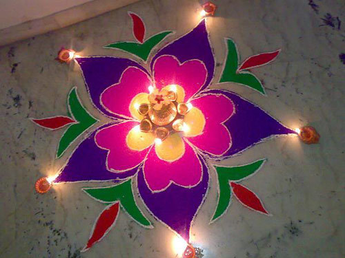 diwali 2015 Latest rangoli design