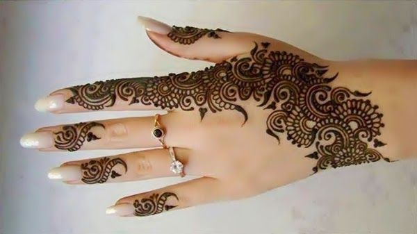mehendi designs for fingers