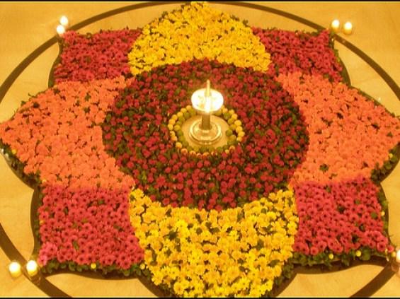 simple easy rangoli design for diwali