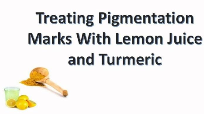 Turmeric Powder And Lemon Juice To Get Rid Of Pigmentation
