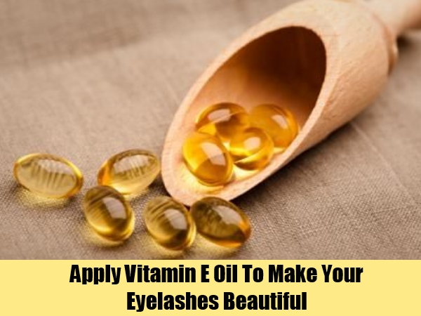 vitamin e for growth of eye lashes