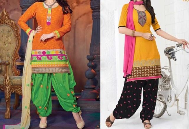 churidar dress neck design