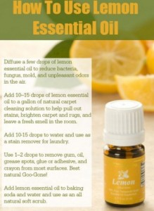 Lemon Essential Oil to stop sneezing