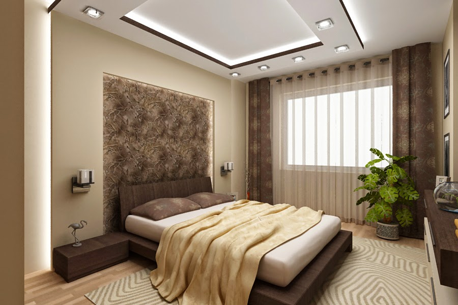 25 latest false designs for living room bed room for Drawing room bed design