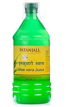 patanjali aloe vera juice for skin problems