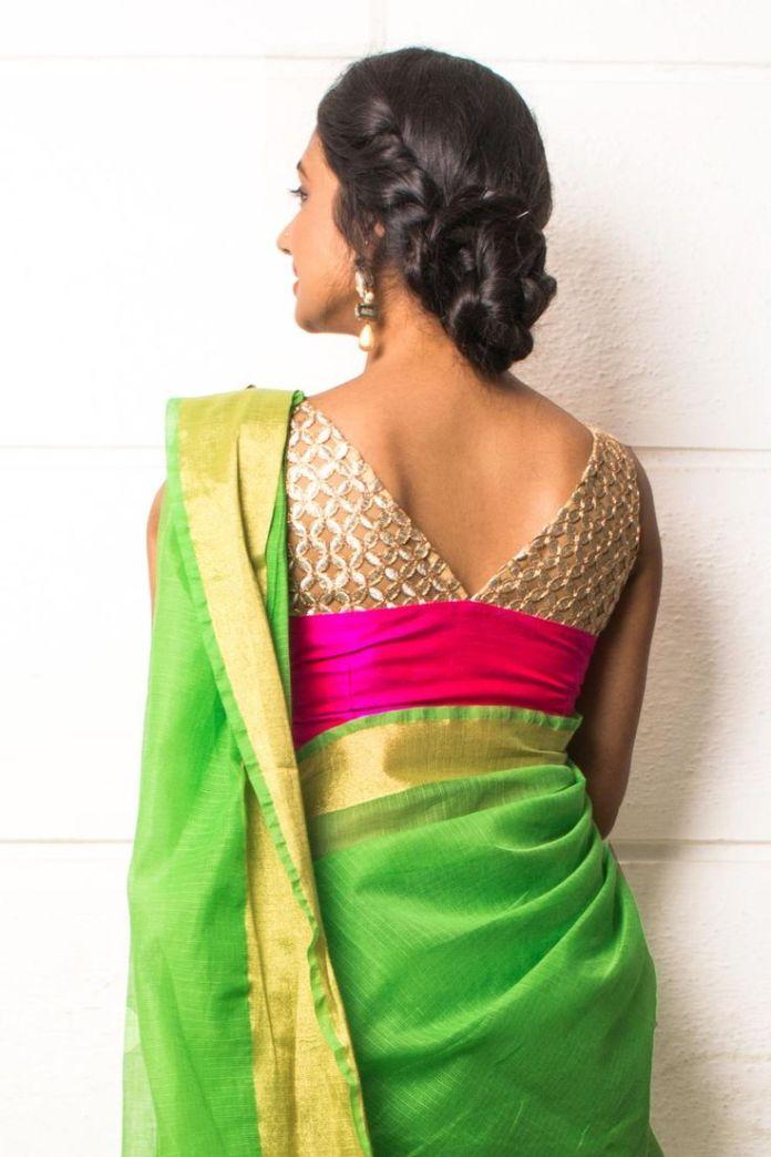 back neckline blouse design