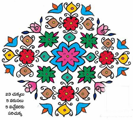 best telugu rangoli designs
