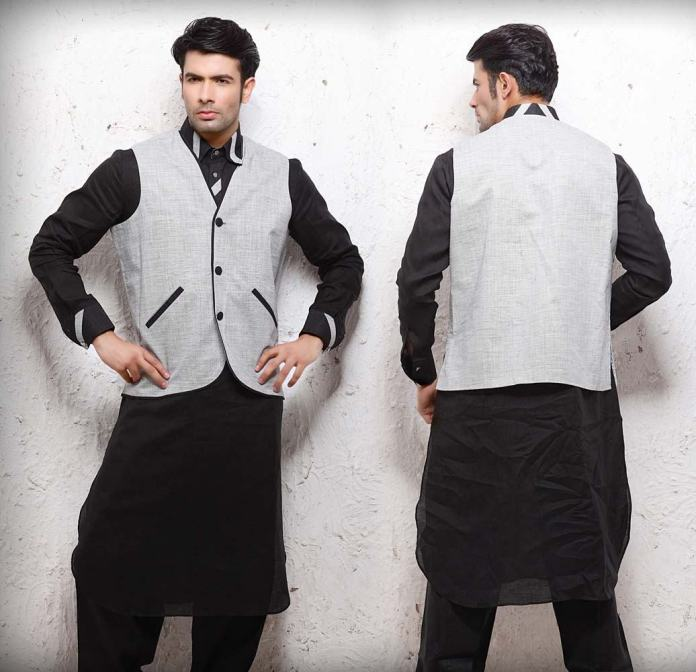plain kurta with jacket designs