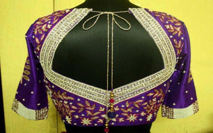 blouse deigns for simple saree