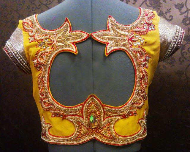cutwork blouse design