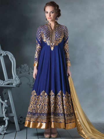 simple embroidered anarkali designs