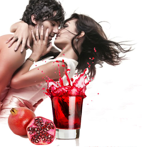 pomegranate juice is good for sex life