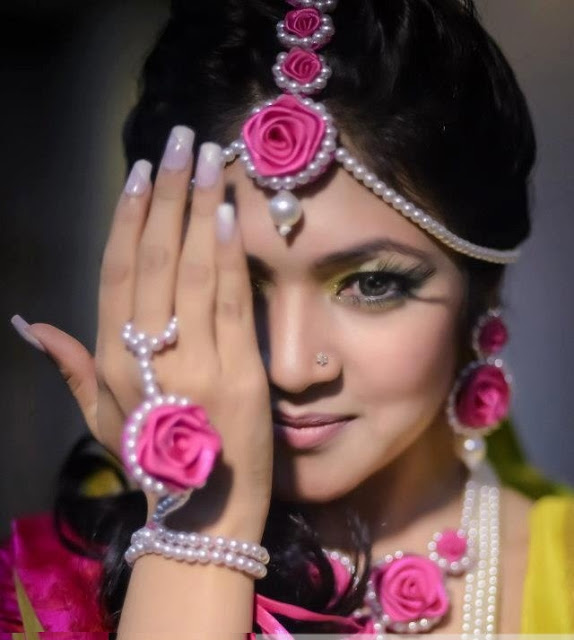real flower jewellery for wedding