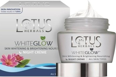 lotus white glow skin night cream